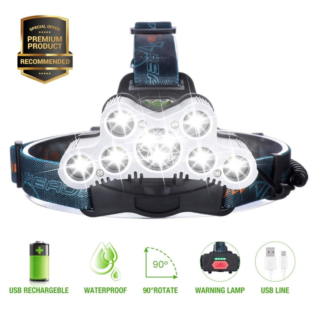 frontale ultra puissante : 9 LED