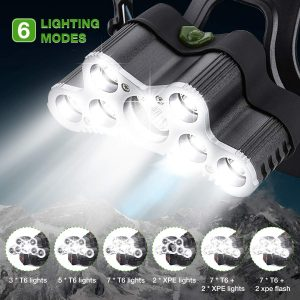 lampe frontale 9 LED